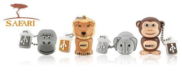 Emtec brengt Safari-dieren USB-sticks op de markt