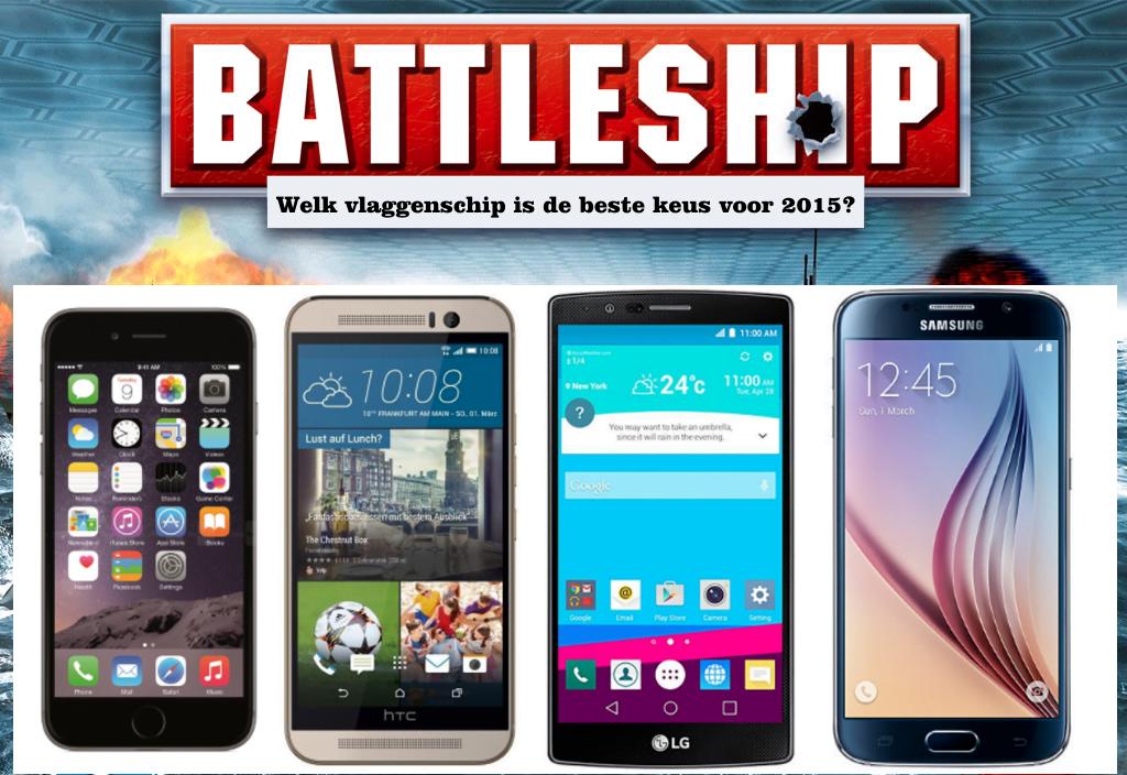 Smartphone battle: G4, One M9, Glaxy S6 en iPhone 6