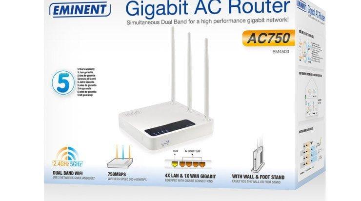 Nieuws: Eminent EM4500 router klaar voor de toekomst