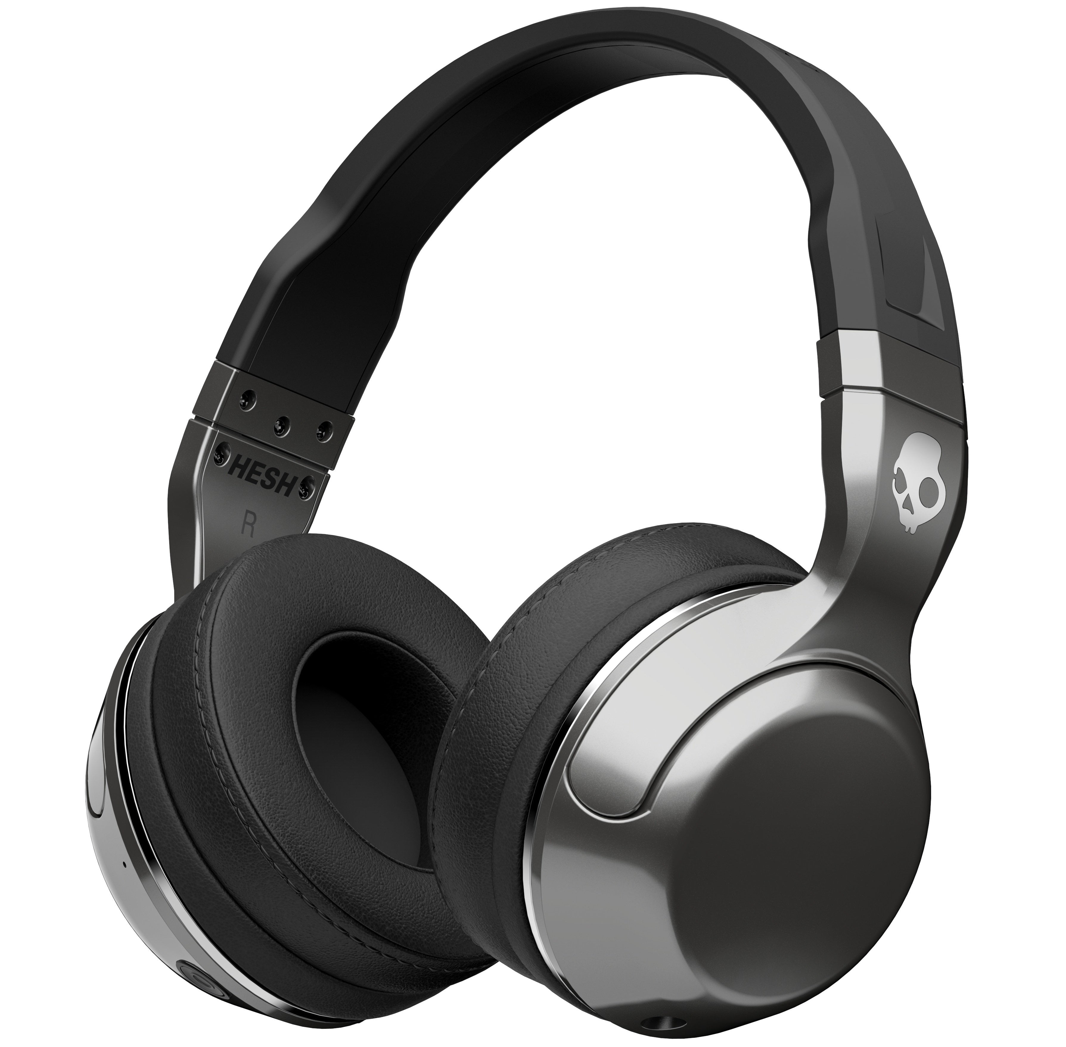 Hesh-2-Wireless-Bluetooth-Silver-Black-Chrome-Mic