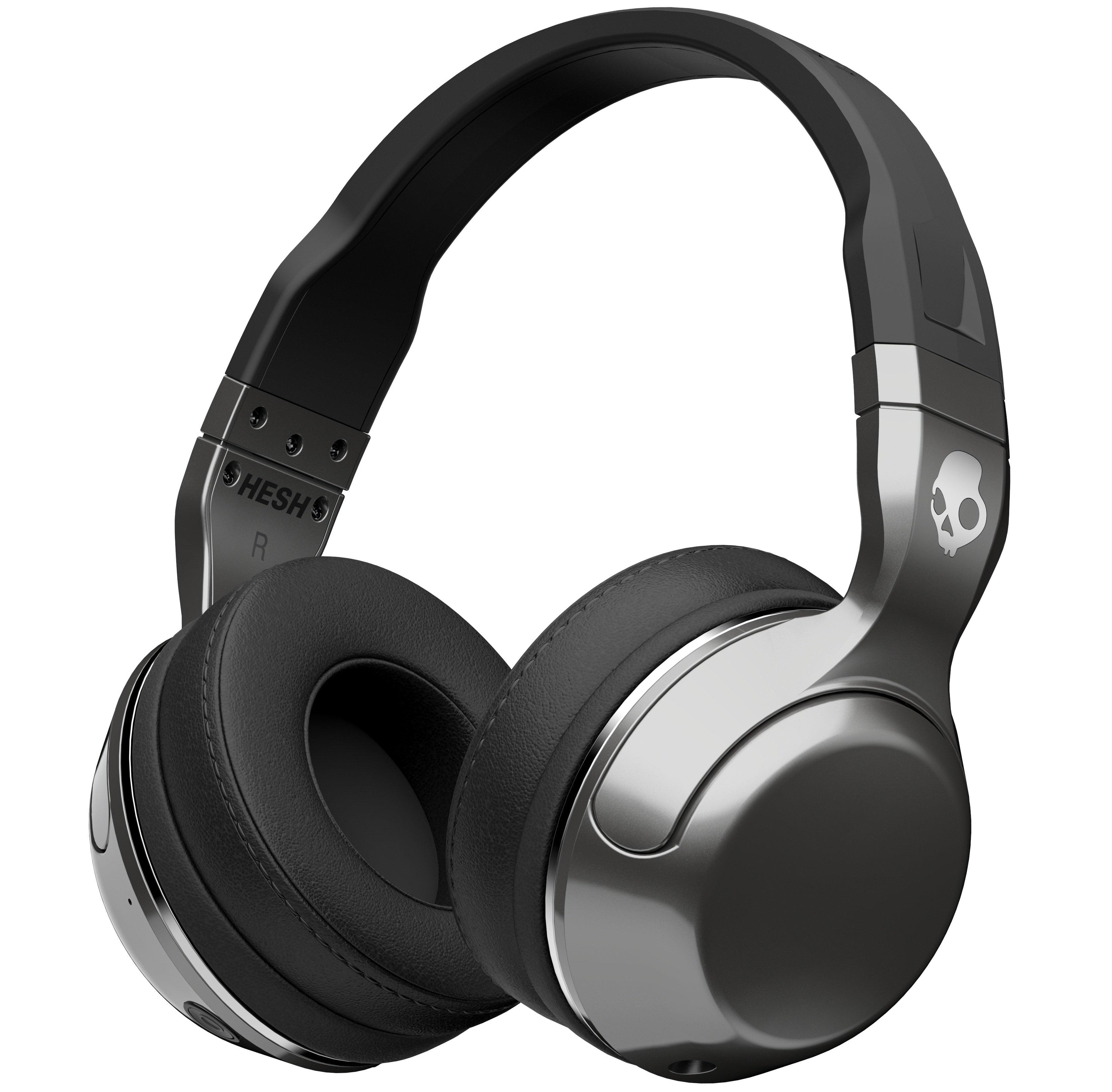 Hesh-2-Wireless-Bluetooth-Silver-Black-Chrome-Mic