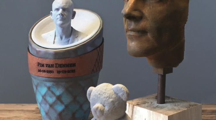 Een 3D geprinte urn maakt het persoonlijk