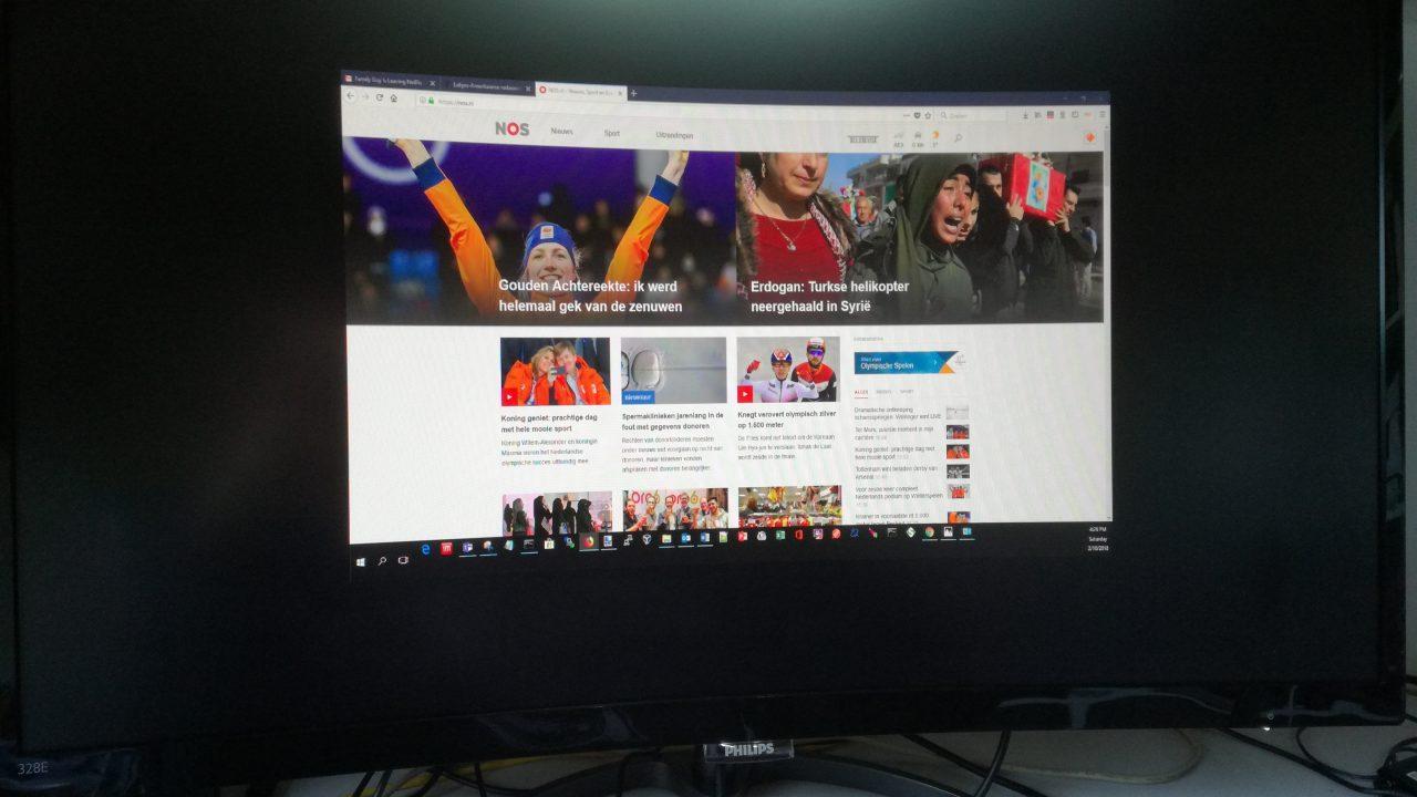 """19"""" display op een 32"""" scherm"""